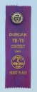 Yo-Yo Contest Ribbon & Pin 1961